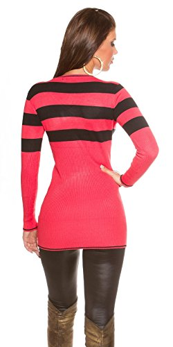 Koucla - Pull - Robe pull - Femme Coral / Black