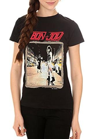 Greucy-darkBandMerch Bon Jovi Runaway Junior's T-Shirt - Black