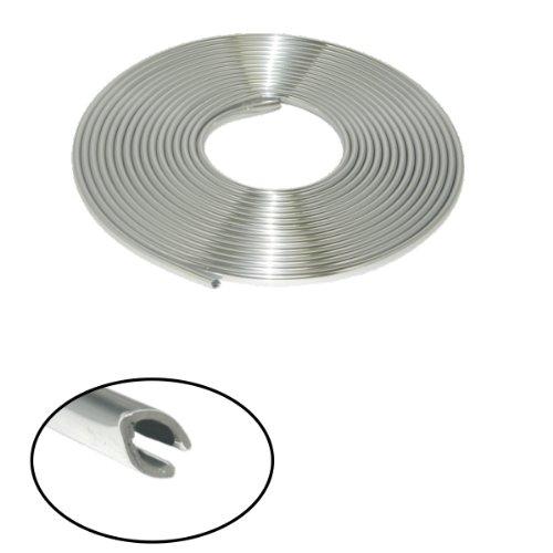Akhan CL89U - Chrom Zierleiste Chromleiste 8 METER 9mm U-Profil Finnprofil
