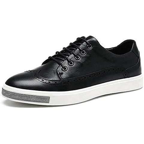 Inverno autunno tendenza moda vera pelle Board Casual scarpe , black , 38