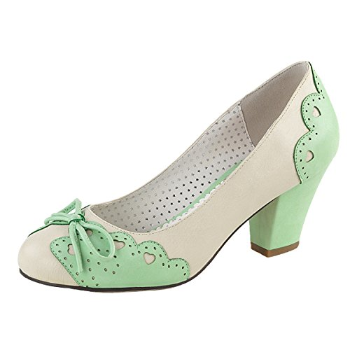 Pin Up Pumps, Damen, Beige (Mint), Größe 38