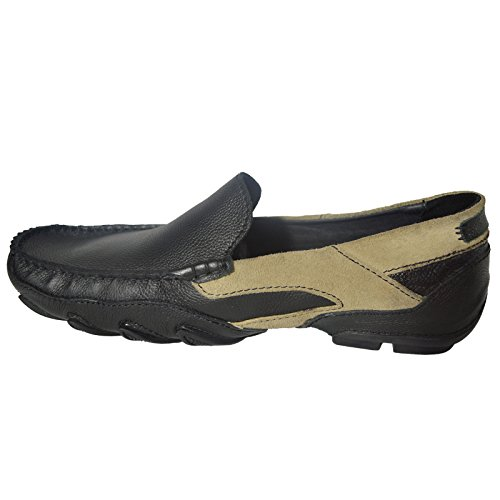 Fahrer Herren Neue Freizeitschuhe Mode Leder Schuhe Khaki 100 Halbschuhe Schwarz q57nw1Spx
