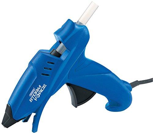 Draper 83660 Storm Force Pistolet à colle avec 6 Bâtonnets de colle (100 W), bleu