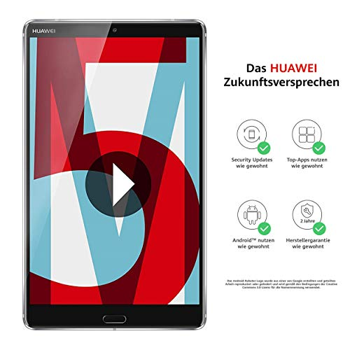 Huawei MediaPad M5 WiFi Tablet-PC 21,34 cm (8,4 Zoll), 2K-Display, Octa-Core Prozessor, 4 GB RAM, 32 GB interner Speicher, Android 8.0, EMUI 8.0, grau