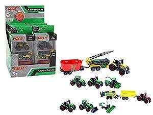 GLOBO- Vehículos de Granja 3 4 asst 8 Piezas d/Box Die Cast (39220), (1)