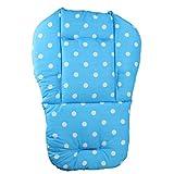 YeahiBaby Kinderwagen Sitzauflage Universal Wasserdichte Kinderwagen Einlage Weiche Kissen für Baby Punkt Muster (blau)
