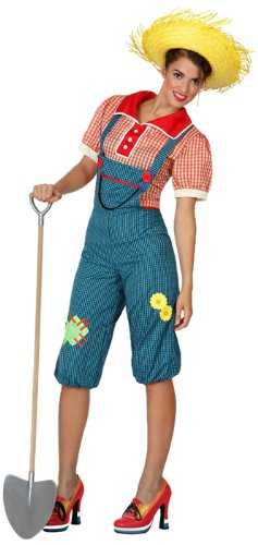 Imagen de atosa  disfraz de granjera para mujer, talla m/l 15641