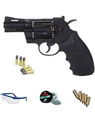 """PACK revólver de aire comprimido KWC 357 2,5"""" model - Arma de CO2 y balines BBs (perdigones de acero) FULL METAL <3,5J"""