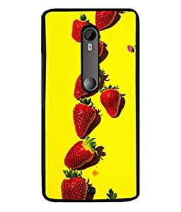 PrintVisa Yummy Straeberries High Gloss Designer Back Case Cover for Motorola Moto X Style :: Moto X Pure Edition