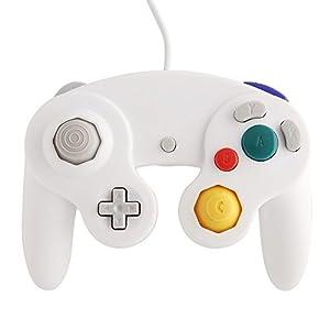 Althemax® NGC Weiß Dualshock Spiel-Schlag Joypad Steuerpult Gamepad für Nintendo Wii GC NGC GameCube