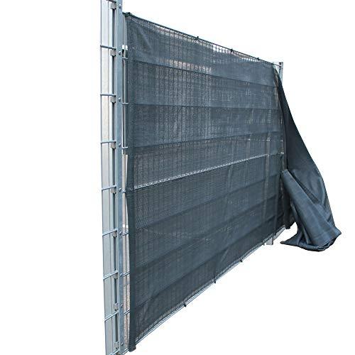 Top-Multi Tennissichtschutz Tennisnetz Bauzaun Gartenzaun ANTHRAZIT 2,0m x 10m