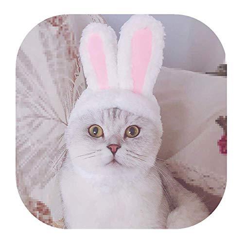 Haustier Hut,Pets Bunny Ears Stirnbänder,Halloween Easter Bunny Ears für Katzen und Kleine Hunde,Bunny Stirnband Hund Kaninchen Ohren Muster Party kostüm zubehör Headwear für Katze Hund (Rosa)