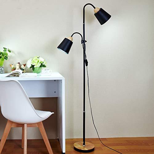 LAMPES DE SOL LED ZXC YWXLight - Lampadaire vertical à double tête à levage haut et bas (Couleur : Black)