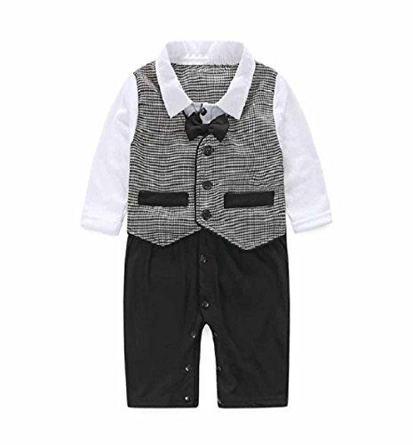 Tongshi Baby Boy Formal Party Taufe Hochzeit Tuxedo Waistcoat Bow Tie Suit (0-6 M) (Tie Tuxedo-anzug)