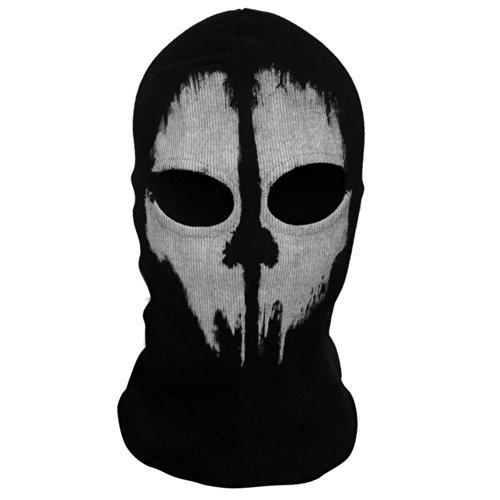 Coxeer® Geister Schädel-Maske Balaclava Hood Ghosts Skull Mask Outdoor Sports Skilaufen Wandern Full Face Mask for Men Maske für Männer (Model 2)