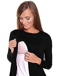 Zeta Ville - Premamá Top de lactancia efecto 2 en 1 cruzado - para mujer - 962c