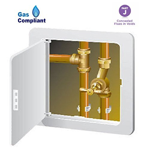 Large Access Panel Inspection Hatch Hinged 305 x 305mm Gas Safe Pipes Flue by Timloc -