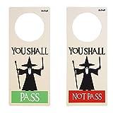 Dr. Troll POMING Schild Nicht Molestar Aufhänger für POMO Türen HABITACIIK DO Not Disturb Gandalf You Shall Pass You Shall Not Pass