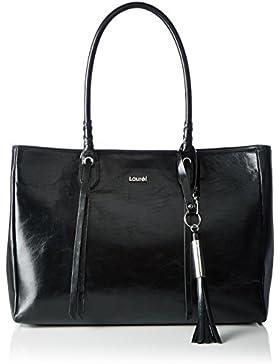 Laurèl Damen Tasche Shopper, Schwarz (Black 900), 38 x 28 x 15 cm