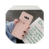 Candy Plain morbido silicone di amore del cuore della cassa del telefono per Samsung Galaxy S10 S8 S9 Inoltre Nota 8 9 S7 S7Edge C7-C9 Pro copertura, per il bordo della galassia s7, Rosa