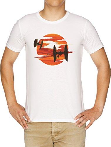 Vendax Paseo de el Corbata Combatientes Camiseta Hombre Blanco