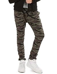 Camuflage Baggy Military Hose mit ZIP für Mädchen Hosen zu Schule Sport Skate Kinder Chino Harlem Streetwear 116-158