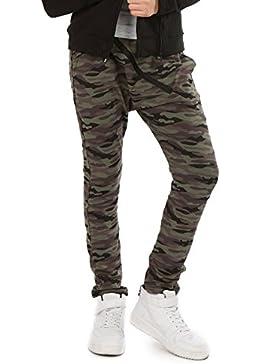 Camuflage Baggy Military Hose mit ZIP für Mädchen Hosen zu Schule Sport Skate Kinder Chino Harlem Streetwear 116...