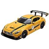 GOPLUS Mercedes GT3 1:14 Roboter Auto Transformation Auto Fernbedienung Auto mit Lautsprecher LED Licht (gelb)