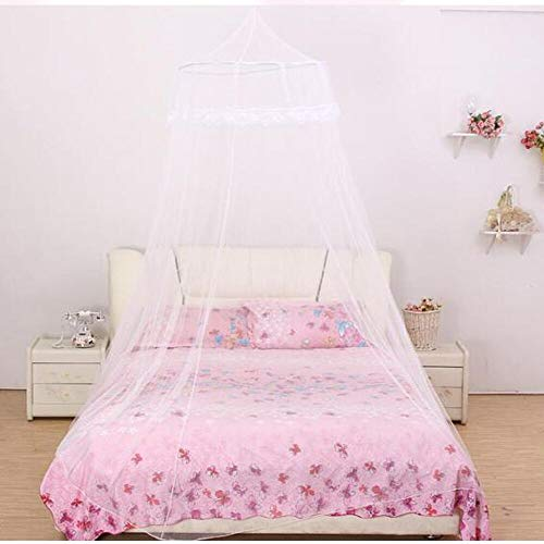 Funmo - Moustiquaire de lit,Moustiquaire, Grande Moustiquaire, Moustiquaire Filet Baldaquin, Convient pour pour Lit Simple, Lit Double Moustiquaire