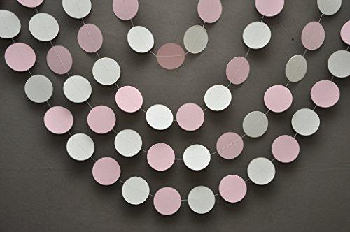 apier Girlande–Pink Grau Weiß Kinderzimmer Decor Banner–Mädchen Baby Dusche, Mädchen Geburtstag, Hochzeit Dusche (Gelb Und Grau Party Supplies)