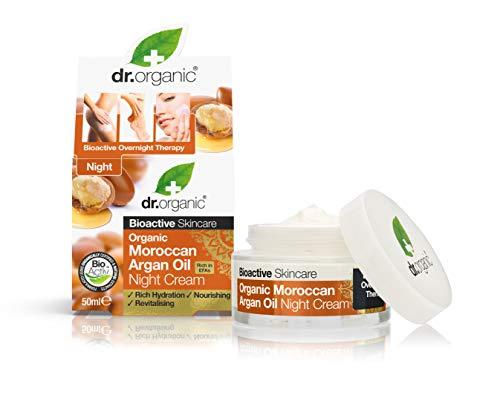 Dr. Organic Argan Night Cream, 50 ml, 1er Pack (1 x 50 ml) -