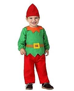 Atosa-32204 Atosa-32204-Disfraz Duende niño bebé-Talla Navidad, Color Verde, 0 a 6 Meses (32204)