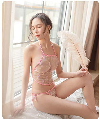Sexy Dessous im chinesischen Stil sexy Spitze Schürze Druck schöne Perspektive enthüllt milchscheue Damen Mesh - Sexy Kostüm Enthüllt