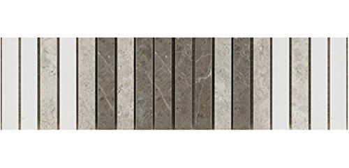 Mosaik-Marmor-Naturstein-Bordüre aus Mosaiksteinen für Küche und ... | {Badezimmer fliesen naturstein mosaik 81}