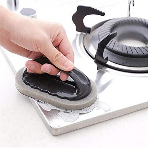 Lunaanco Emery Sponge Brush Eraser Scrub Handle Grip Sink Pot Bowl Herramienta...