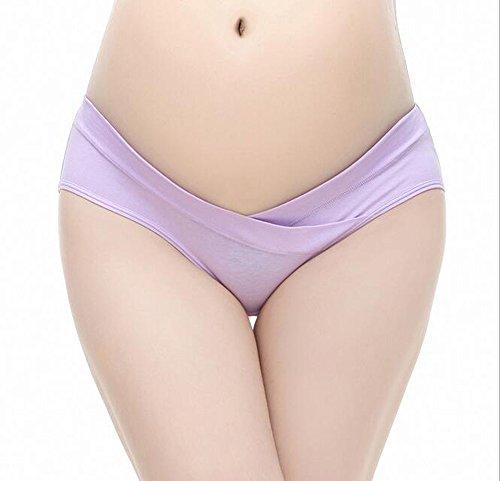 Maternité Culottes, Possec Femme Coton Vêtements Grossesse Sous-vêtements Faible - taille Culottes Pack de 3