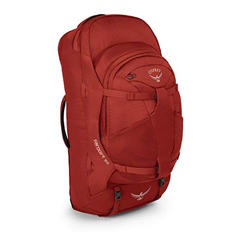 Osprey Farpoint 55 Men's Travel Pack with 13L Detachable Daypack - Jasper Red (M/L)