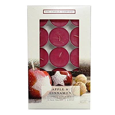 Christmas Tealight Candles Apple & Cinnamon by The Candle Company