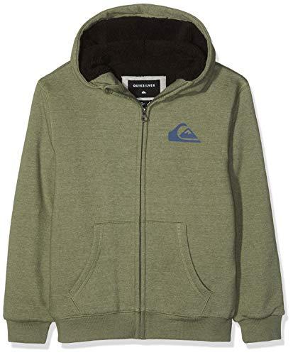 08636c29e Quiksilver Best Wave Sherpa Sweat-Shirt à Capuche Sport Garçon Vert (Four  Leaf Clover