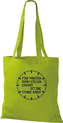 Sessioni Di Stoffa Di Shirtstown Detti Divertenti Cinque Minuti Stupidi Pone Spesso Unora Di Lavoro A Molti Colori Lime
