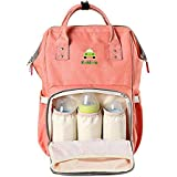 Kiddale Baby Diaper Bag Backpack With USB Charging Cable- Multifunction Baby Organizer Bag With Insulated Pockets For Bottles, Wipe Pocket, Stroller Strap, 6 Interior Pockets, Mesh Pocket And 2 Side Pockets