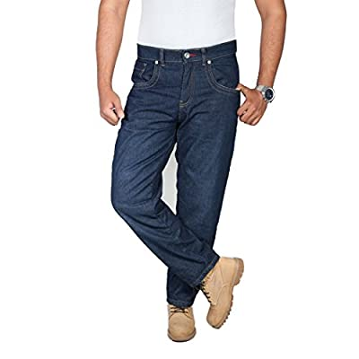 onedaymore Straight Fit Aramid Reinforced Motorcycle Straight Fit Jeans, Blue, Free Protectors.