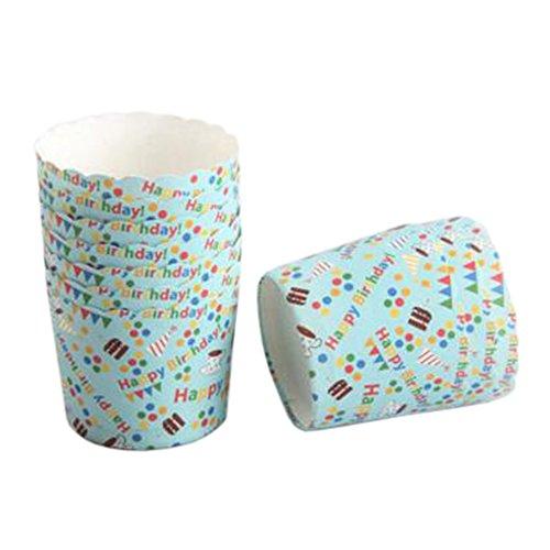 Blancho 100 PCS Tasse de Cupcake de papier de cuisson, Tasse de moule de cupcakes créative #04