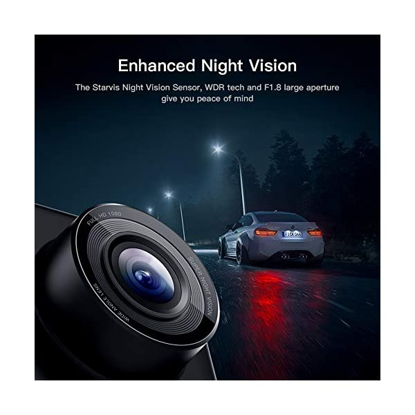 APEMAN Dual Lens Dash Cam for Cars Front and Rear with Night Vision and SD Card Included, 1080P FHD Mini Car Camera, 170°Wide Angle Driving Recorder with G-Sensor, Parking Monitor, Loop Recording, WDR 4
