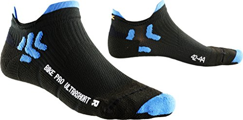 X-Socks Herren Socken BIKE PRO ULTRASHORT, Black/French Blue, 42/44, X100083 -