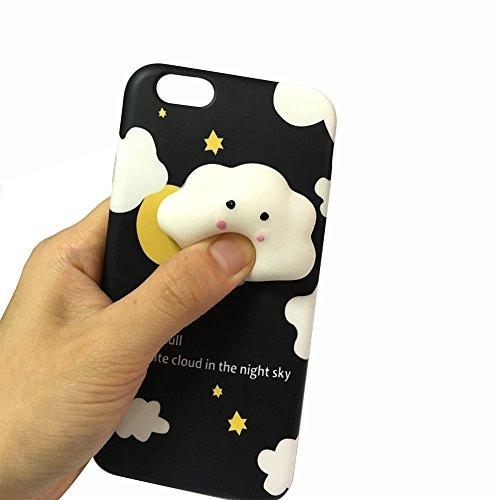 Coque iPhone7,Aliyao iPhone case Étui en plastique squishy 3D Squishy avec Soft Silicon Cute Animal Squeeze Stress Reliever Phone Cover pour iPhone 6/6S Plus,iPhone7/7Plus (iPhone7, chat 5) poussin2