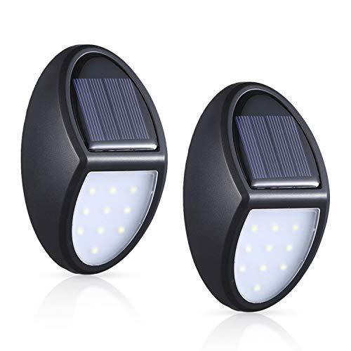 Descripción del producto: Nombre: MOSUO lampara LED Solares Material: ABS Batería NI-MH: 1.2 V, 1000 mAh Tamaño del producto: 75 * 120 MM Luz LED: 0.25 W, 55 lm * 10 PCS Contenidos del paquete: 1 x MOSUO iluminacion LED 2 x tornillo Consejos: 1. Desb...