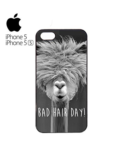 Bad Hair Day Llama Funny Hipster Swag Mobile Phone Case Back Cover Hülle Weiß Schwarz iPhone 5&5s White Weiß