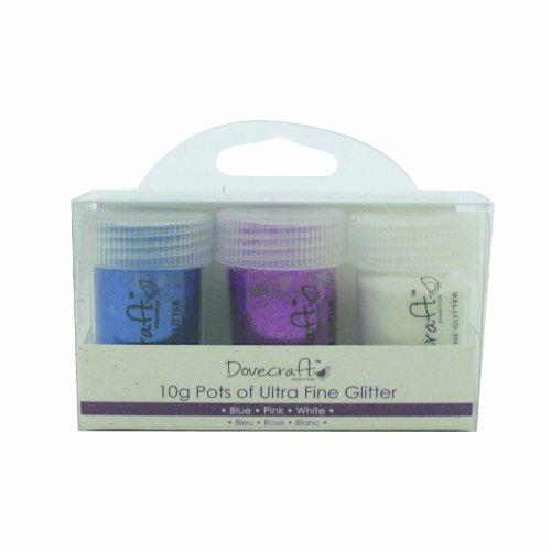 Unbekannt Dovecraft Behälter mit Glitter Blau/Pink/Weiß (Sprinkles Pink Glitter)