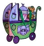 disok–Geschenktasche & PRESENTACION Kinderwagen grün Staubsaugerbeutel, Neugeborene, Geschenke für Kinder, Taufe, Babyparty, Kindergeburtstag, Original und billige für Geschenke